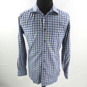 David Donahue Check Plaid Shirt